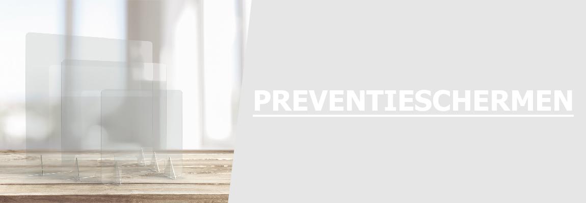 Preventieschermen (met opening)