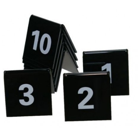 Tafelnummers en bordjes