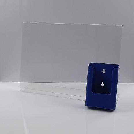L-Standaard A3 met 1/3 A4 Folderhouder Blauw