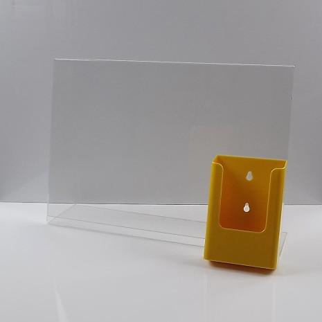 L-Standaard A3 met 1/3 A4 Folderhouder Geel