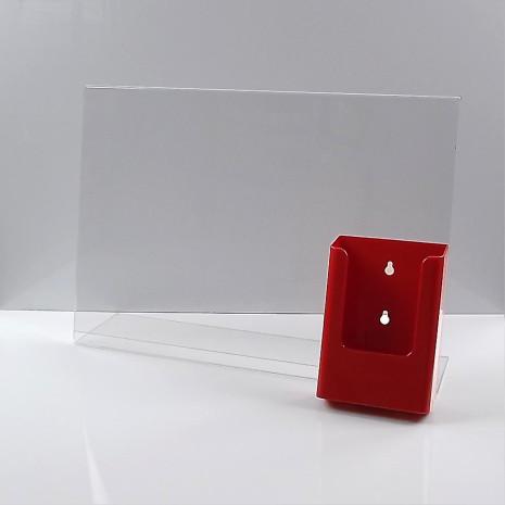 L-Standaard A3 met 1/3 A4 Folderhouder Rood