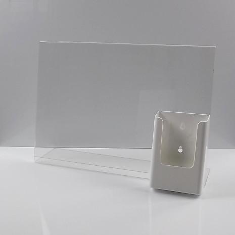 L-Standaard A3 met 1/3 A4 Folderhouder Wit