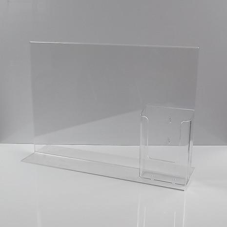 T standaard A3 staand met 1/3 A4 folderhouder glashelder