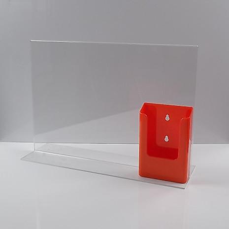 T-Standaard A3 Liggend met 1/3 A4 Folderhouder Oranje