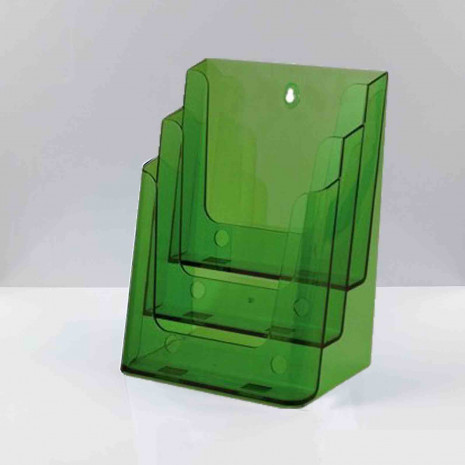 Folderhouder 3* A4 Transparant Groen
