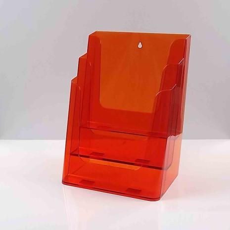 Folderhouder 3* A4 Transparant Oranje