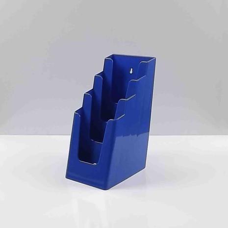 Folderhouder 4* 1/3 A4 Blauw