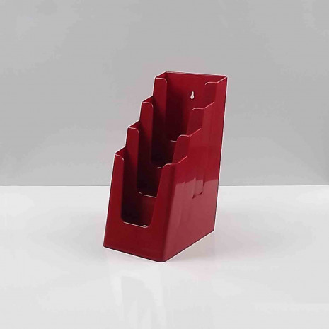 Folderhouder 4* 1/3 A4 Bordeaux