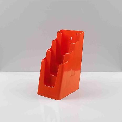 Folderhouder 4* 1/3 A4 Oranje