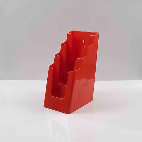 Folderhouder 4* 1/3 A4 Rood