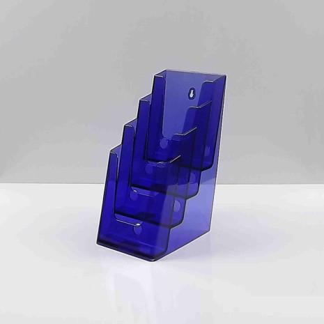 Folderhouder 4* 1/3 A4 Transparant Paars
