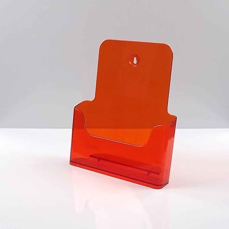 Folderhouder A4 Transparant Oranje