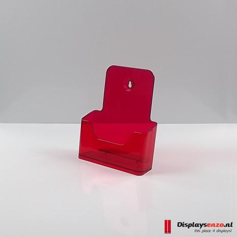 Folderhouder A5 transparant rood