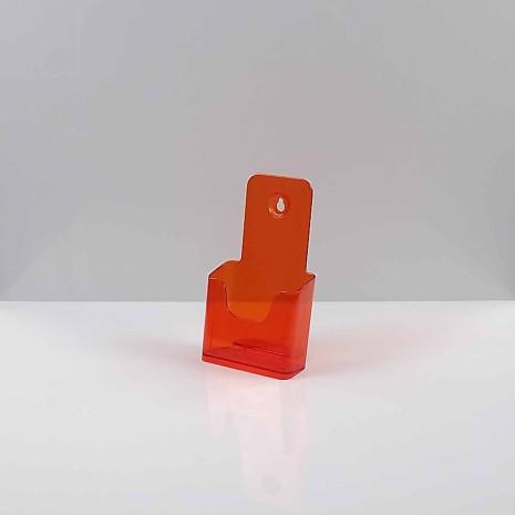 Folderhouder 1/3 A4 Transparant Oranje
