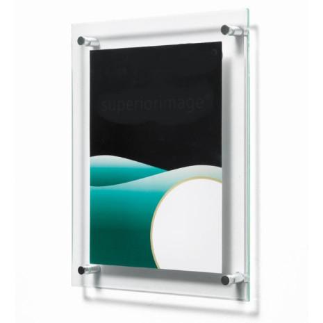 Wand kaarthouder met afstandhouder 10,2 x 15,2 cm