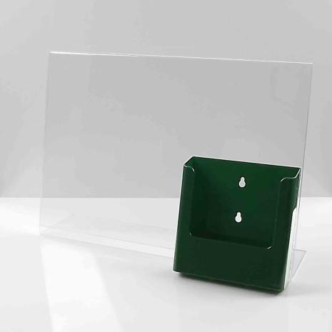L-Standaard A3 met A5 Folderhouder Groen