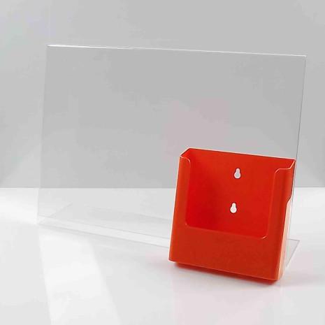 L-Standaard A3 met A5 Folderhouder Oranje