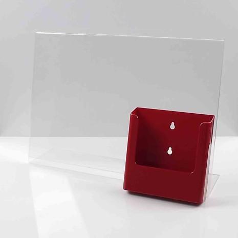 L-Standaard A3 met A5 Folderhouder Rood