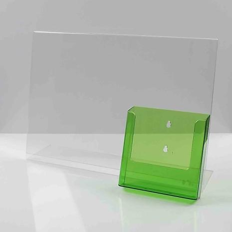 L-Standaard A3 met A5 Folderhouder Transparant Groen
