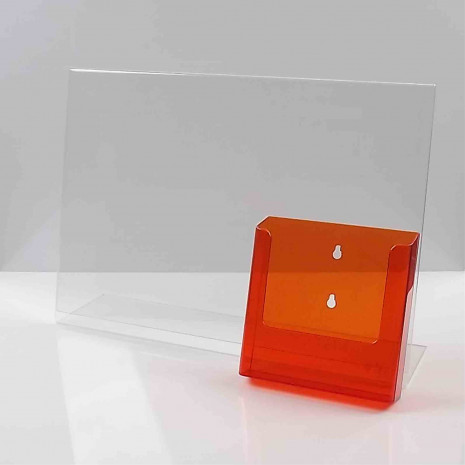 L-Standaard A3 met A5 Folderhouder Transparant Oranje