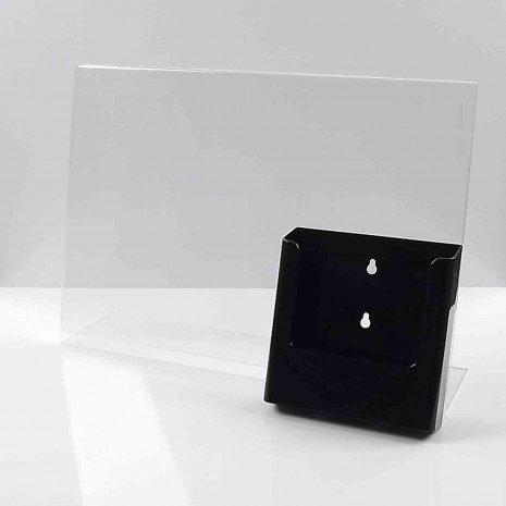 L-Standaard A3 met A5 Folderhouder Zwart