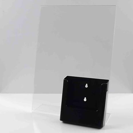 L standaard A3 staand met folderhouder A5 zwart