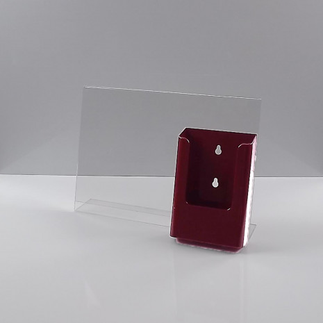 L-Standaard A4 Liggend met 1/3 A4 Folderhouder Bordeaux