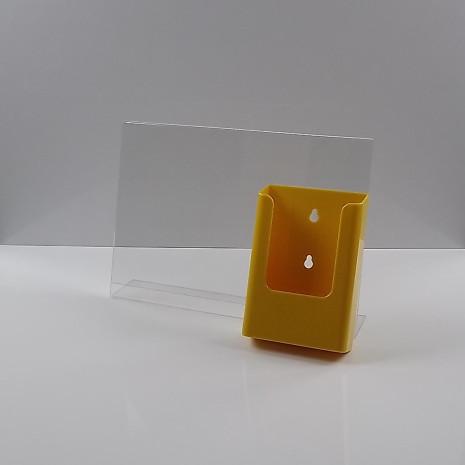 L-Standaard A4 Liggend met 1/3 A4 Folderhouder Geel