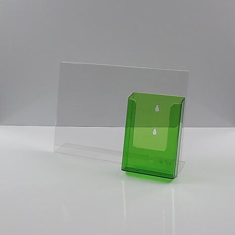 L-Standaard A4 Liggend met 1/3 A4 Folderhouder Transparant Groen