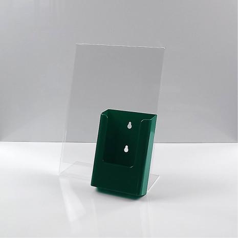 L-Standaard A4 Staand met 1/3 A4 Folderhouder Groen