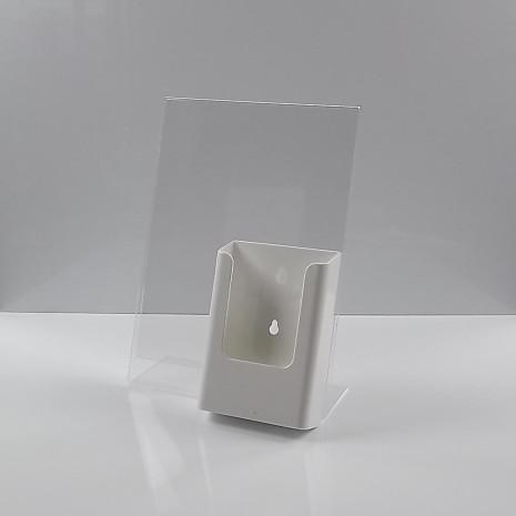 L-Standaard A4 Staand met 1/3 A4 Folderhouder Wit