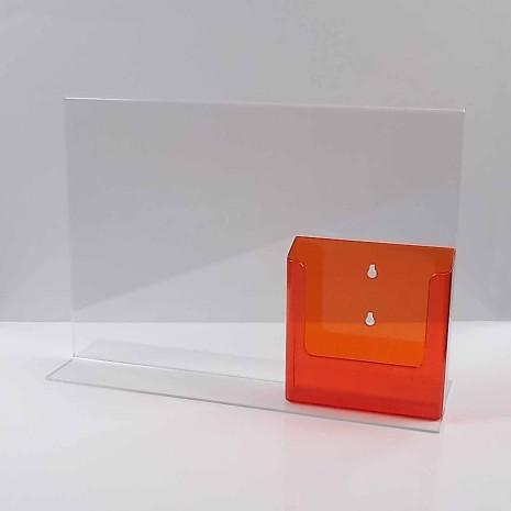 T-Standaard A3 met A5 Folderhouder Transparant Oranje