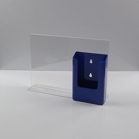 T-Standaard A4 liggend met blauwe folderhouder 1/3 A4