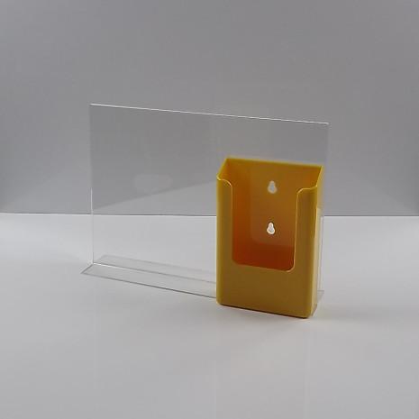 T-Standaard A4 liggend met 1/3 A4 folderhouder geel