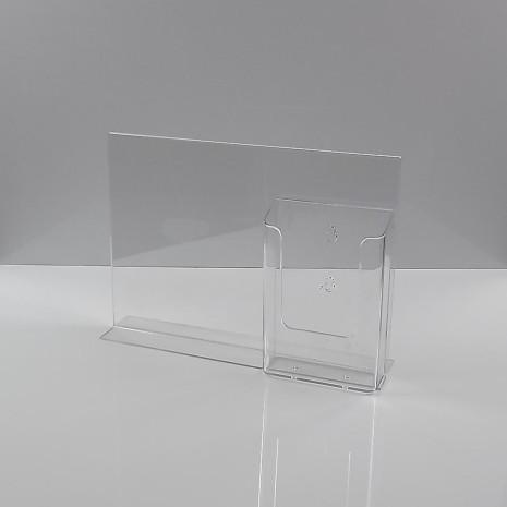 T-Standaard A4 Liggend met 1/3 A4 folderhouder Helder