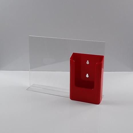 T-Standaard A4 liggend met rode folderhouder 1/3 A4