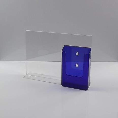 T-Standaard A4 liggend met 1/3 A4 folderhouder transparant paars
