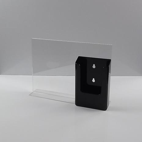 T-Standaard A4 liggend met zwarte folderhouder 1/3 A4