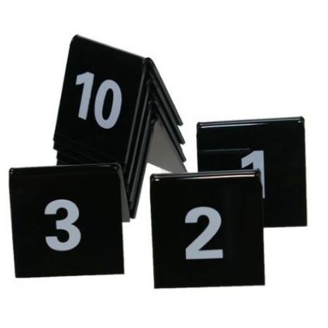 Tafelnummers set zwart nummers 1 tot en met 50