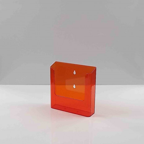 Wandfolderhouder A5 Transparant oranje
