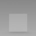 Kuchscherm hangend / Plexiglas scherm (800*800)