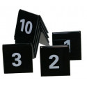Tafelnummers set zwart nummers 1 tot en met 10