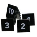 Tafelnummers 1 tot en met 10 zwart
