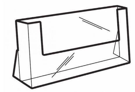 Folderhouder A4 liggend