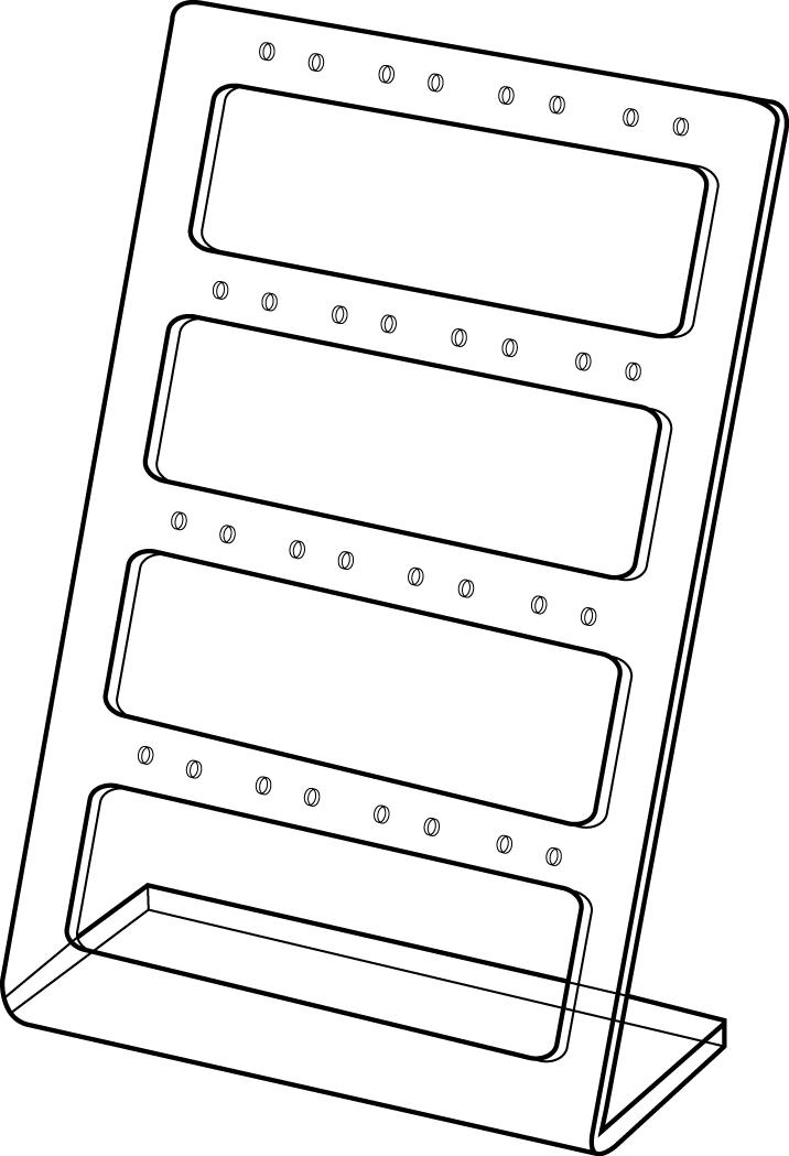 Oorbelhouder voor 16 paar hangers