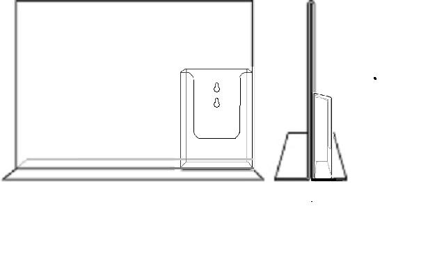 T standaard A4 liggend met 1/3A4 folderhouder