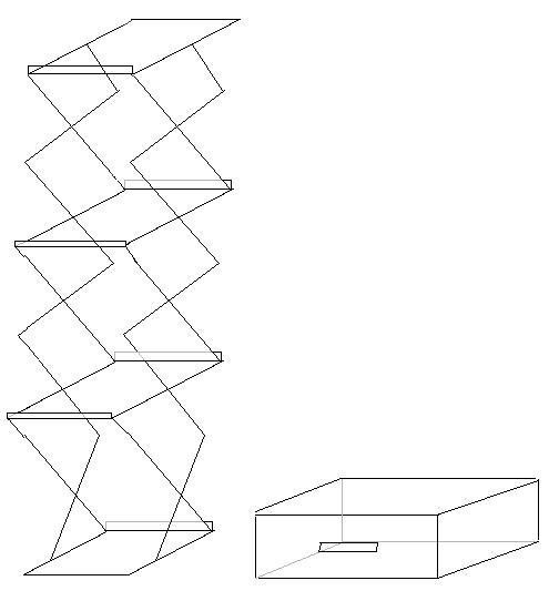 Inklapbare folderhouder A4