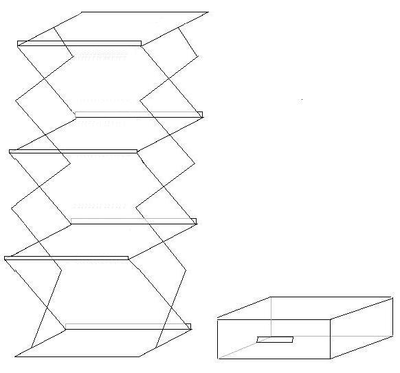 Inklapbare folderhouder a3