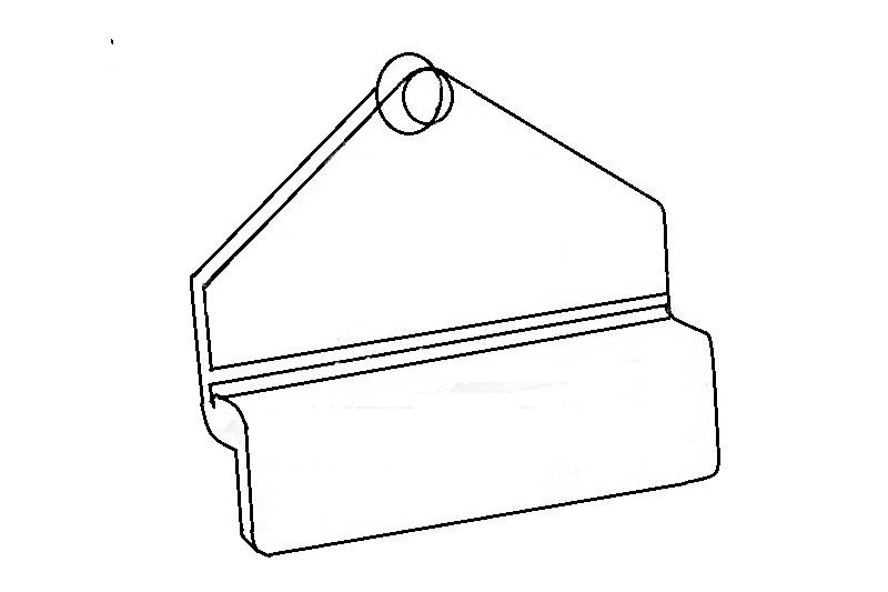 Koppeling voor wandfolderhouder t.b.v. slatwall wand