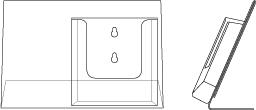 L standaard liggend met folderhouder A5